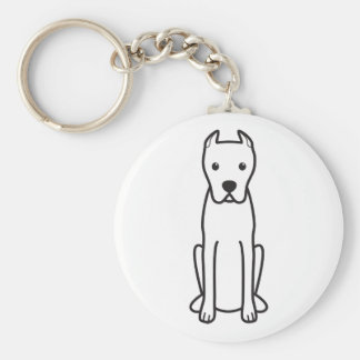 Dogo Argentino Llavero Redondo Tipo Pin