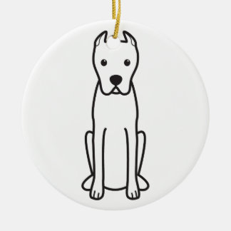 Dogo Argentino Double-Sided Ceramic Round Christmas Ornament