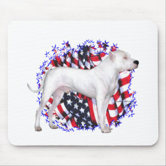Dogo Argentino Patriot Mouse Pad