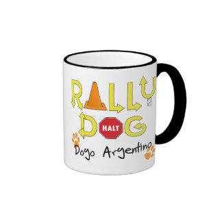 Dogo Argentino Rally Dog Ringer Coffee Mug