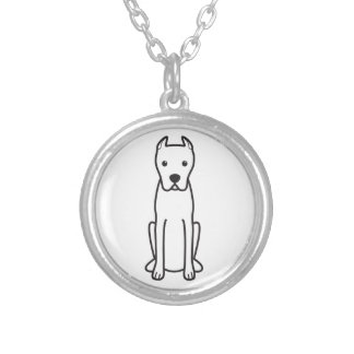 Dogo Argentino Silver Plated Necklace