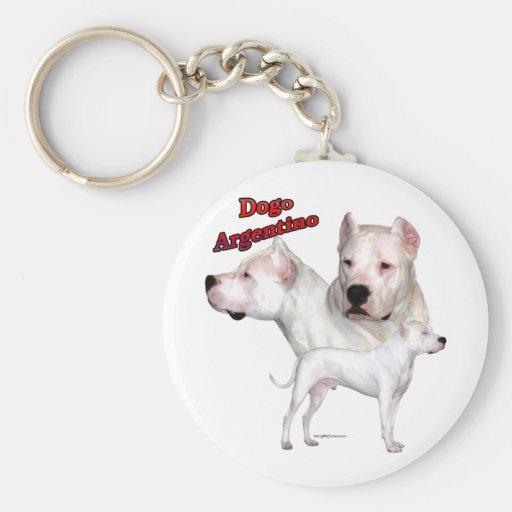Dogo Argentino Trio 2 - Keychain