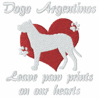 Dogo Argentinos Leave Paw Prints