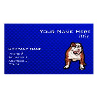 Dogo; Azul Tarjetas De Visita