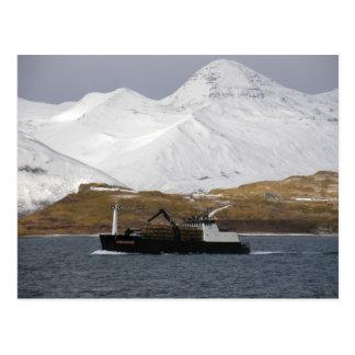 Dogo, barco del cangrejo en el puerto holandés, tarjeta postal