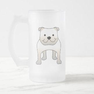 Dogo blanco. Historieta linda del perro Taza De Cristal