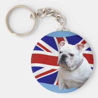 Dogo británico llavero redondo tipo pin
