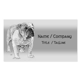 Dogo británico tarjeta personal
