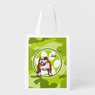 Dogo; camo verde claro, camuflaje bolsa de la compra