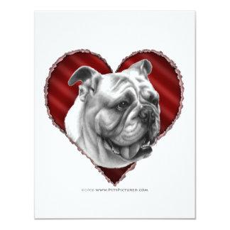 """Dogo con el corazón invitación 4.25"""" x 5.5"""""""