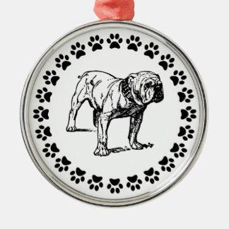 Dogo con Pawprints Adorno Para Reyes