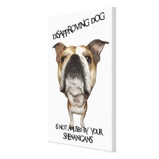 Dogo de desaprobación del perro no divertido por S Impresión En Lona