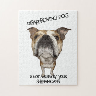 Dogo de desaprobación del perro no divertido por S Puzzle Con Fotos