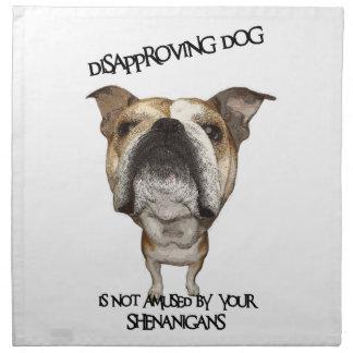 Dogo de desaprobación del perro no divertido por S Servilletas