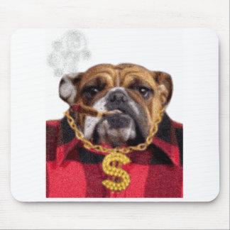 Dogo de Gangsta que fuma Alfombrilla De Ratones