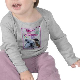 Dogo de los saludos de Pascua Camisetas