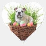 Dogo de Pascua Pegatina En Forma De Corazón