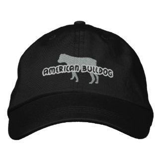 Dogo del americano de la silueta gorra de béisbol