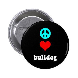 Dogo del amor de la paz pin
