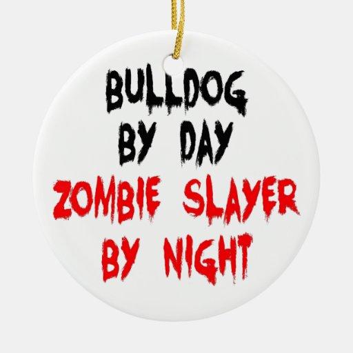 Dogo del asesino del zombi adorno de reyes