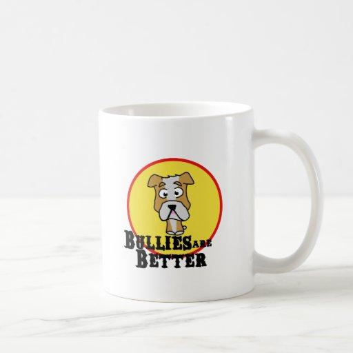 Dogo del blanco/del moreno tazas de café