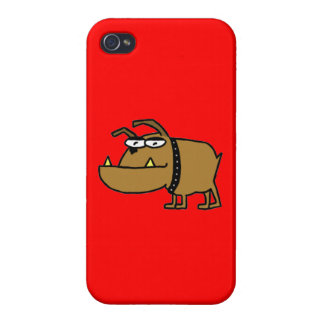 Dogo del dibujo animado iPhone 4 funda