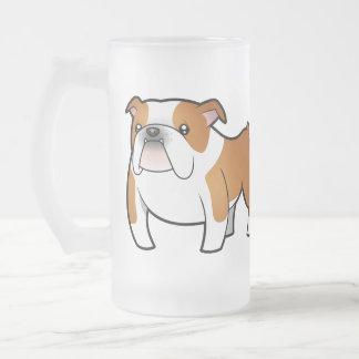 Dogo del dibujo animado taza de cristal