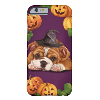 Dogo del inglés de Halloween Funda De iPhone 6 Barely There