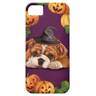 Dogo del inglés de Halloween iPhone 5 Cárcasa