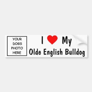 Dogo del inglés de Olde Pegatina Para Auto