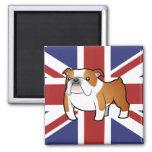 Dogo del inglés del dibujo animado de Union Jack