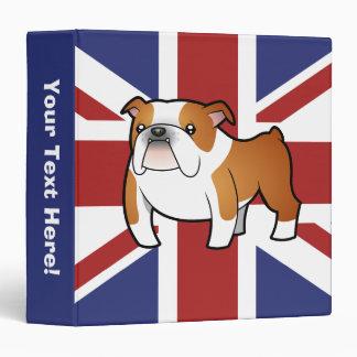 """Dogo del inglés del dibujo animado de Union Jack Carpeta 1 1/2"""""""