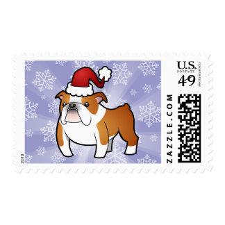Dogo del navidad timbres postales