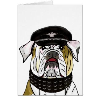 Dogo divertido y duro con la ropa de cuero tarjeta