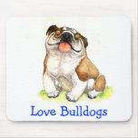Dogo feliz Mousepad del dibujo animado del perrito