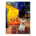 Dogo francés 1 - café de la terraza postales