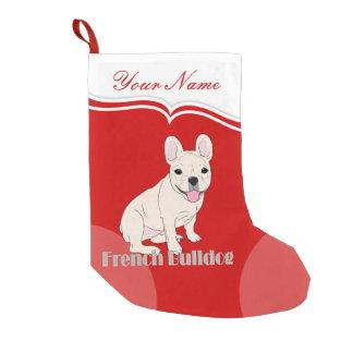 Dogo francés 1 calcetín navideño pequeño