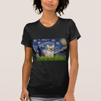Dogo francés 1 - noche estrellada camiseta