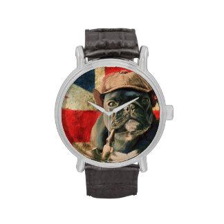 Dogo francés 2 relojes de mano