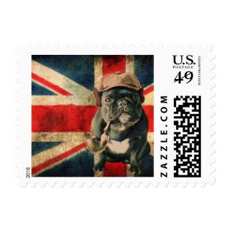 Dogo francés 2 sellos