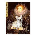 Dogo francés 3 - reina tarjeta postal
