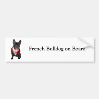Dogo francés a bordo pegatina para el parachoques  pegatina para auto