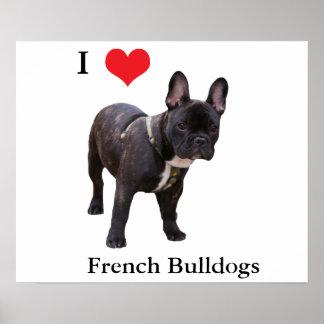 Dogo francés, amo el corazón, poster, idea del reg