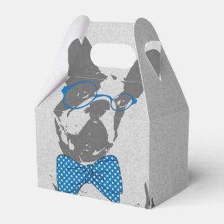 Dogo francés animal del vintage de moda divertido cajas para regalos de boda