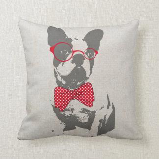 Dogo francés animal del vintage de moda divertido  cojines
