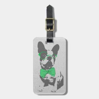Dogo francés animal del vintage de moda divertido  etiquetas de equipaje