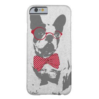 Dogo francés animal del vintage de moda divertido funda de iPhone 6 barely there