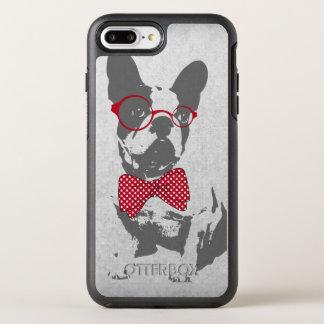Dogo francés animal del vintage de moda divertido funda OtterBox symmetry para iPhone 7 plus