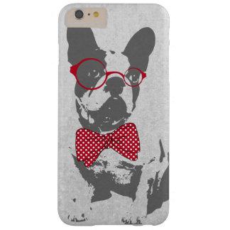 Dogo francés animal del vintage de moda divertido funda para iPhone 6 plus barely there