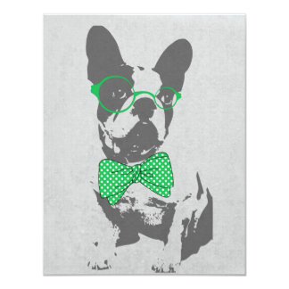 Dogo francés animal del vintage de moda divertido anuncios